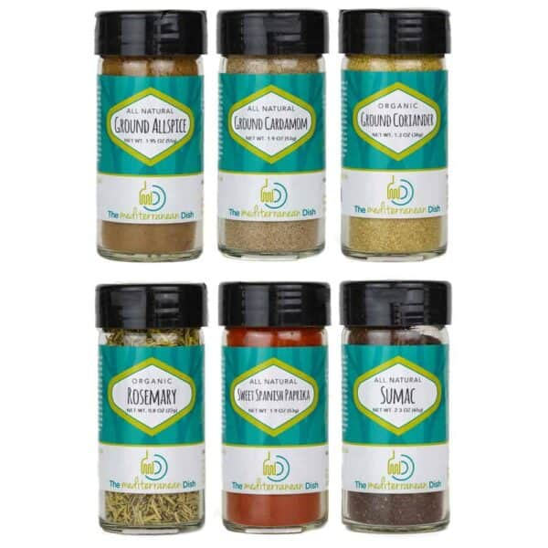 Create your own 6-pack of spices from The Mediterranean Dish
