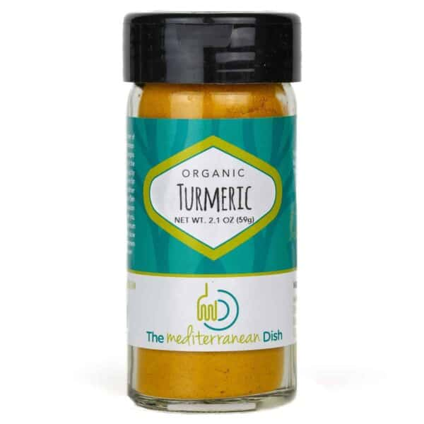 Organic Turmeric spice from The Mediterranean Dish