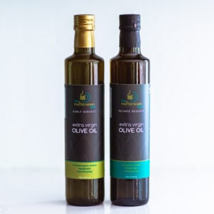 A bundle of Greek extra virgin olive oil
