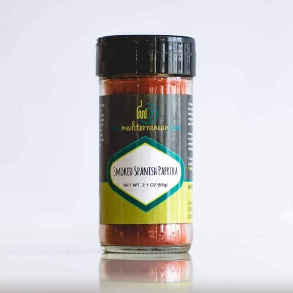 Individual bottle of smoked Spanish paprika.