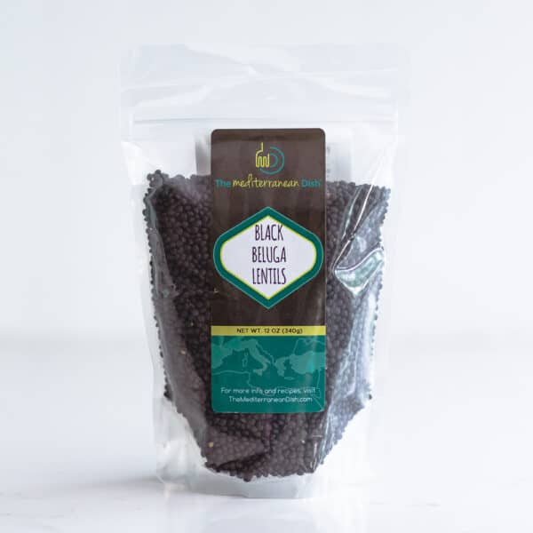Gusset bag of black lentils