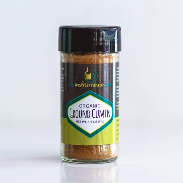 Bottle of organic cumin