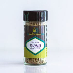 Bottle of organic rosemary