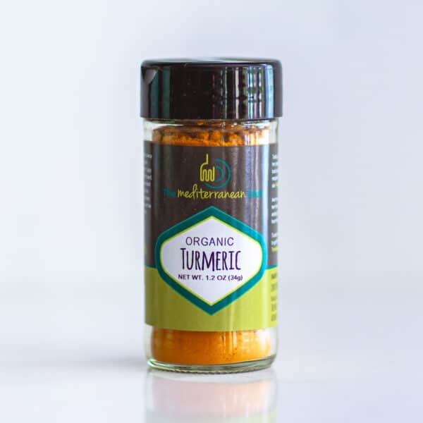 Bottle of organic turmeric