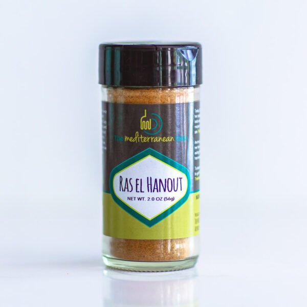 Bottle of Ras El Hanout spice blen