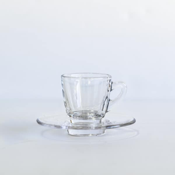 Clear espresso cup