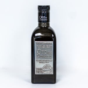 Bottle of Spanish extra virgin olive oil
