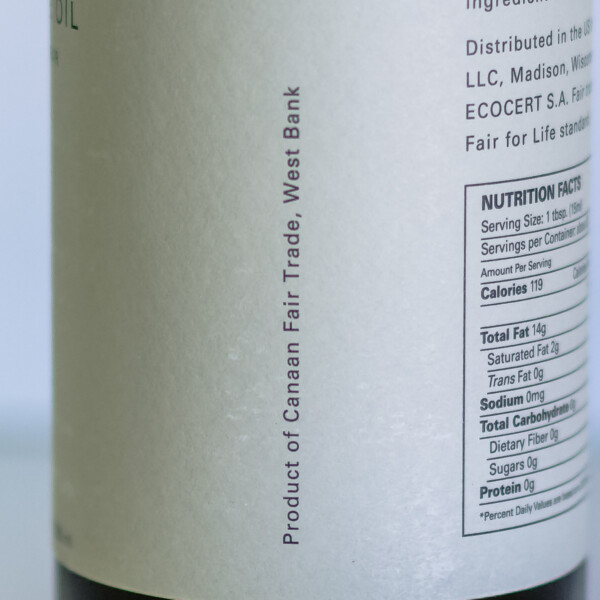 A label indicating the origin is from the West Bank, in Palestine