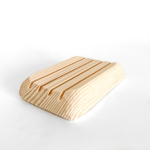 Pine wooden soap dish